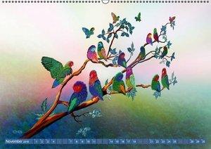 Papageien Zeichnungen (Wandkalender 2016 DIN A2 quer)