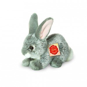 Teddy Hermann 93701 - Hase sitzend grau, 18 cm