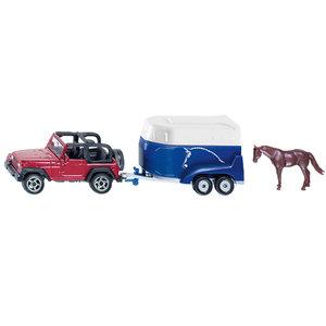 SIKU 1651 - Jeep mit Pferdeanhänger