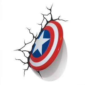 3D Deko Licht - Marvel - Captain Americas Schild (inkl. Wandstic