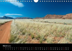 Landscapes of Namibia / UK-Version (Wall Calendar 2015 DIN A4 La