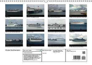 Cruise Southampton (Wall Calendar 2016 DIN A3 Landscape)
