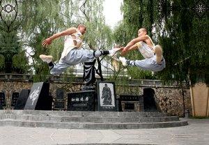 Premium Textil-Leinwand 45 cm x 30 cm quer Shaolin Kung Fu