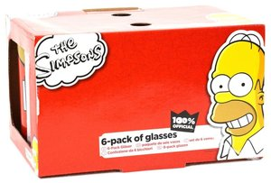 United Labels 0109497 - Simpsons: Gläserset, 6-teilig