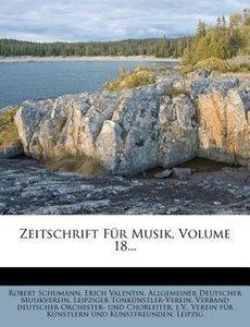 Neue Zeitschrift für Musik, vier und dreissigster Band