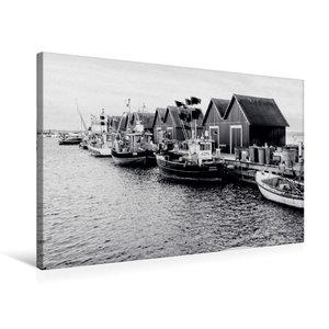 Premium Textil-Leinwand 75 cm x 50 cm quer Fischerhütten am Weiß