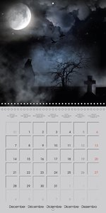 Kisses of dark dreams (Wall Calendar 2015 300 × 300 mm Square)
