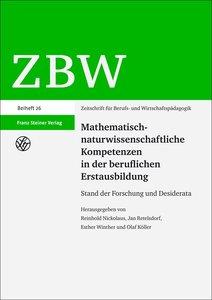 Mathematisch-naturwissenschaftliche Kompetenzen in der beruflich
