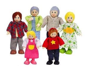 Hape E350 - Puppenfamilie, helle Haut