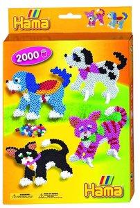 Hama 3413 - Geschenkpackung Hund und Katze, 2 Stiftplatten mit c