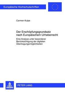 Der Erschöpfungsgrundsatz nach Europäischem Urheberrecht