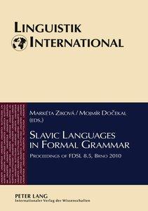 Slavic Languages in Formal Grammar