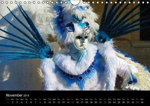 Magical Masks of Venice / UK-Version (Wall Calendar 2015 DIN A4