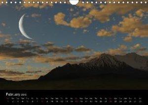 Luna 2 - fictional lunar landscapes (Wall Calendar 2015 DIN A4 L