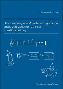 Untersuchung von Melodiesuchsystemen sowie von Verfahren zu ihre