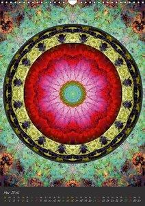 Blühende Mandalas (Wandkalender 2016 DIN A3 hoch)
