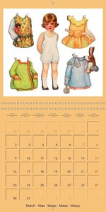 CHARMING OLD PAPER DOLLS (Wall Calendar 2015 300 × 300 mm Square