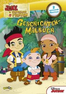 Jake und die Nimmerland Piraten - Geschichten-Malbuch