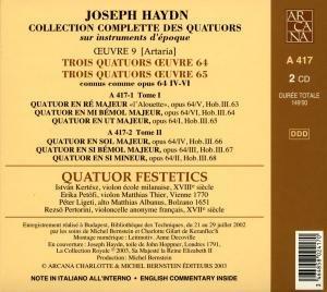 Les Quatuors Opp.64 & 65