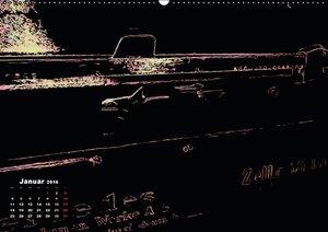 BLACK LIGHT TYPEWRITER (Wandkalender 2016 DIN A2 quer)
