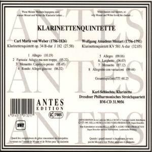 Mozart/Weber:Klarinettenquintette