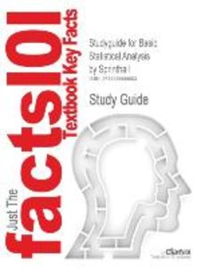Studyguide for Basic Statistical Analysis by Sprinthall, ISBN 97
