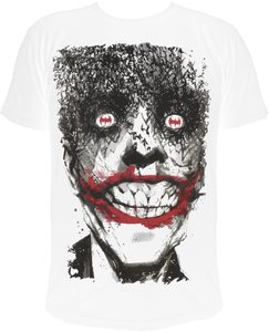 Batman Joker - Bat Smile - T-Shirt - Weiss - Größe L