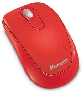 Microsoft Wireless Mobile Mouse 1000 USB, flame rot