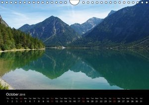 Across the Alps / UK-Version (Wall Calendar 2015 DIN A4 Landscap