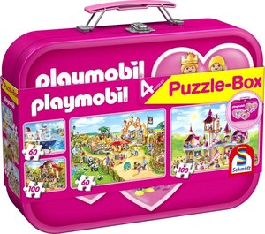 Playmobil, Puzzle-Box pink, 2x60, 2x100 Teile