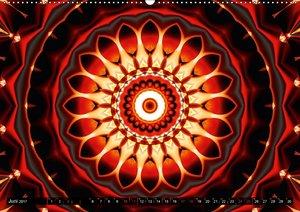 Energie-Mandalas Stärke durch die Farbe Rot
