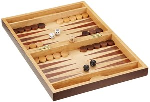Philos 2508 - Schach/Backgammon, Walnuss, Feld 32 mm