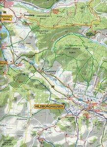 Hildburghausen, Römhild und Umgebung Radwander- und Wanderkarte