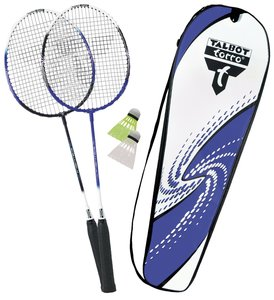 Talbot Torro 449512 - Badminton Set 2-Fighter mit Tasche, Blau-W