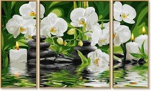 Schipper 609260681 - Malen nach Zahlen - Wellness Oase, Triptych
