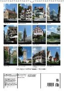 Ulm, City on the River Danube / UK-Version (Wall Calendar 2015 D