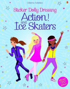 Sticker Dolly Dressing Action & Ice Skaters