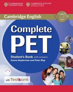 Testbank Complete PET. Student's Book with answers with CD-ROM w