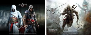 Assassins Creed - Wallscroll / Banner - 2er Set (Horizontal)