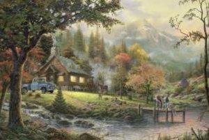 Thomas Kinkade, Idylle am Fluss, 500 Teile