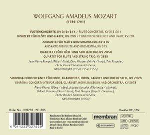 Flötenkonzerte/Sinfonia Concertante