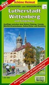 Lutherstadt Wittenberg und Umgebung. Radwander- und Wanderkarte