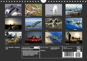 U.S. Aircraft - Fighting Jets (Wall Calendar 2015 DIN A4 Landsca