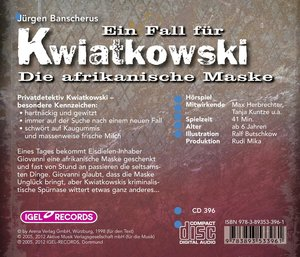 Ein Fall für Kwiatkowski - Die afrikanische Maske