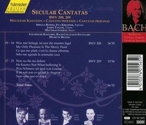 Weltliche Kantaten BWV 208+209