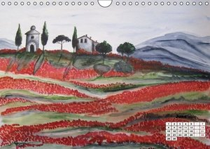 Tuscany in Watercolour / UK-Version (Wall Calendar 2015 DIN A4 L