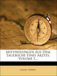 Mittheilungen aus dem Tagebuche eines Arztes, Erster Theil, 1833