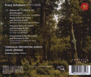 "Sinfonie 7 ""Unvollendete"" & Rondo,Concerto/+"
