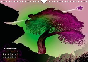 Pine Tree and Light (Wall Calendar 2015 DIN A4 Landscape)