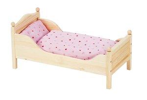 Goki 51917 - Puppenbett, aus Holz, 54,5 x 27 x 25,5 cm